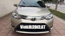 Bán Toyota Vios G 1.5CVT màu vàng cát, số tự động SX 2017, máy mới Eco