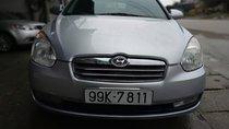 Bán Hyundai Verna màu bạc, đời 2008, xe nhập khẩu, nội ngoại thất đẹp, máy móc êm