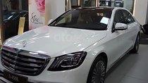Bán Mercedes S450 2018 mới nhất Hà Nội, số tự động, máy xăng, màu trắng, nội thất màu đen
