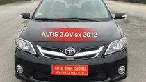 Bán Toyota Corolla Altis 2.0V năm 2012, màu đen