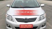 Cần bán xe Toyota Corolla altis 1.8G AT năm sản xuất 2008, màu bạc, nhập khẩu nguyên chiếc