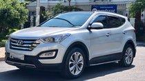 Bán Hyundai Santa Fe đời 2015, màu bạc bản xăng đặc biệt