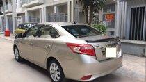 Bán Toyota Vios E 2017, đăng ký T6/2017, màu vàng cát