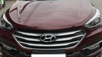Hyundai Santafe 2.2 AT màu đỏ mận, sản xuất 2018 chính chủ từ đầu