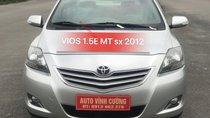 Bán ô tô Toyota Vios 1.5E MT đời 2012, màu bạc
