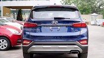 Bán ô tô Hyundai Santa Fe 2.4L HTRAC đời 2019, màu xanh lam, mới 100%