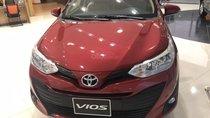 Bán Toyota Vios 1.5E CVT 1.5E MT, 1.5G AT năm 2019, màu đỏ khuyến mãi lớn, tặng bảo hiểm, DVD, camera de