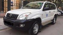 Bán xe Prado GX 3.0, 2 cầu, số sàn, màu trắng, nội thất nỉ màu kem, máy dầu, đời 2005, 08 chỗ