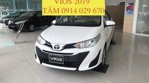 Bán Toyota Vios 2019, chỉ cần 180tr nhận xe, có xe giao ngay - LH 0914 029 670