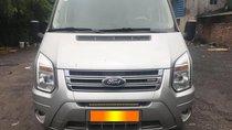 Gia đình cần bán Ford Transit Luxury 2016, số sàn, máy dầu, màu bạc