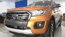 Bán xe Ford Ranger Wildtrak Bi Turbo 4x4, màu cam, nhập khẩu, giao ngay