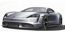 Porsche Taycan EV 2019 lần đầu lộ diện không che