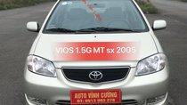 Bán Toyota Vios 1.5G MT đời 2005, màu ghi bạc