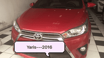 Cần bán Toyota Yaris sản xuất 2016 màu đỏ, nhập khẩu