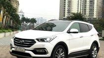 Cần bán Hyundai Santa Fe máy dầu, full option năm sản xuất 2017, màu trắng
