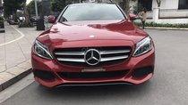 Bán Mercedes C200 sx 2016, model 2017, số tự động, máy xăng, màu đỏ, nội thất màu đen