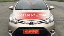 Bán ô tô Toyota Vios 1.5E MT năm sản xuất 2016, biển tỉnh bao hồ sơ