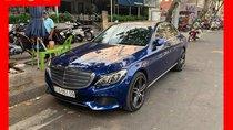 Bán xe Mercedes C250 xanh nội thất đen 2017 cũ chính hãng, trả trước 450 triệu nhận xe ngay