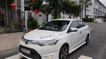 Bán ô tô Toyota Vios G 2015, màu trắng, giá 480tr, 4 vỏ mới, cách âm, sub Đức, bánh mâm, full body kit