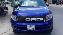 Bán Ford Ranger XLT đời 2013, màu xanh lam, ghế da