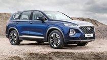 Bán Hyundai Santa Fe năm sản xuất 2019, màu xanh lam, nhập khẩu