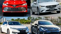 So sánh giá xe Toyota Camry 2019 với các đối thủ trong phân khúc sedan hạng D