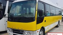 Thaco 22 - 29 chỗ, Fuso Rosa/động cơ Mitsubishi Nhật Bản, trả góp 70%. LH 0938 900 846
