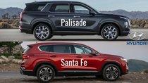 Nhìn nhanh thông số xe Hyundai Palisade và Santa Fe 2019