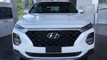 Bán xe New Santafe 2019 máy dầu bản tiêu chuẩn trắng, giao xe ngay tại Hyundai Tây Đô - Hyundai Cần Thơ