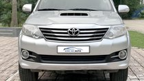 Bán Toyota Fortuner 2.5MT 2015, máy dầu, số sàn, màu bạc, biển Hà Nội