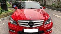 Bán Mercedes C300 AMG màu đỏ sản xuất 2012 biển Hà Nội