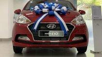 Bán Hyundai Grand I10 Sedan MT đỏ giao ngay, hỗ trợ đăng kí Grab, lấy xe chỉ với 130tr, LH 0903175312
