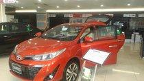 Toyota Yaris 1.5G CVT mời 2018. Giảm tiền mặt 35tr+, duy nhất màu cam. LH ngay 0919970001