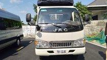 Bán xe tải JAC 2T4 động cơ Isuzu, thùng mui bạt, kích thước lòng thùng dài 4m3