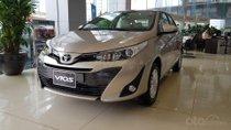 Bán Toyota Vios 2019 giám giả mạnh tiền mặt, tặng BHTV, đầu DVD, cam lùi, ghế da