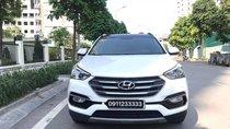 Bán ô tô Hyundai Santa Fe full máy dầu đời 2017, màu trắng, xe đẹp bao test hãng toàn quốc