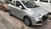 Bán Hyundai Grand i10 MT Sedan bạc nhận xe ngay chỉ với 120tr, hỗ trợ đăng ký Grab, LH 0903175312