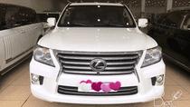 Bán Lexus LX570 sản xuất 2013, đăng ký 2014 màu trắng, nội thất kem, LH: 0906223838