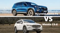 So sánh xe Hyundai Santa Fe và Mazda CX-8 2019 bản quốc tế