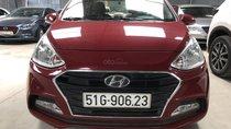 Bán Hyundai Grand i10 sedan 1.2MT màu đỏ số sàn, bản đủ sản xuất 2018, biển Sài Gòn