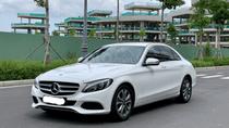 Cần bán Mercedes C200 2018, màu trắng /kem hộp số 9 cấp, loa bumaster