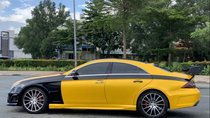 Cần bán lại xe Mercedes CLS350 đời 2005, màu vàng