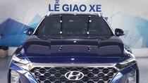 Hyundai Santafe sx 2019, cao cấp một màu xanh duy nhất tại thị trường, xe giao ngay, khuyến mãi khủng