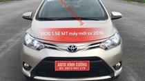 Bán Toyota Vios 1.5E MT 2016, màu vàng máy mới