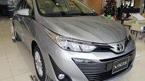 Bán Toyota Vios bản cao cấp G sản xuất 2019, số tự động, máy xăng, màu bạc, nội thất màu kem