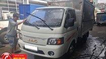 Bán xe tải JAC 1T25 thùng kín cánh dơi dài 3m2, trả trước 40 triệu