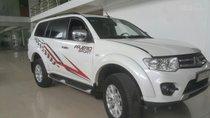 Bán Mitsubishi Pajero Sport 2.5MT màu trắng camay, số sàn, máy dầu sản xuất 2016, biển Sài Gòn