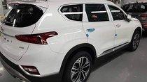 Bán ô tô Hyundai Santa Fe dầu cao cấp 2019, màu trắng, sẵn xe