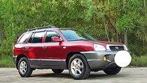 Bán ô tô Hyundai Santa Fe 2003, màu đỏ, xe nhập