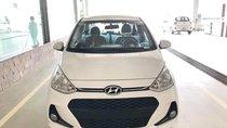 Bán Hyundai Grand i10 1.2 AT mới 2019, màu trắng, xe sẵn giao ngay